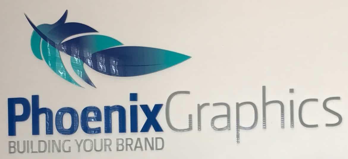 Phoenix Graphics Acyrilic sign