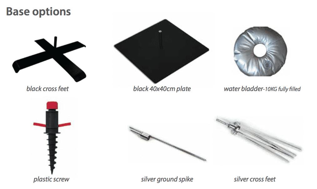 Flag base options - Phoenix Graphics - Large Format Digital Printing. Delivery Australia Wide