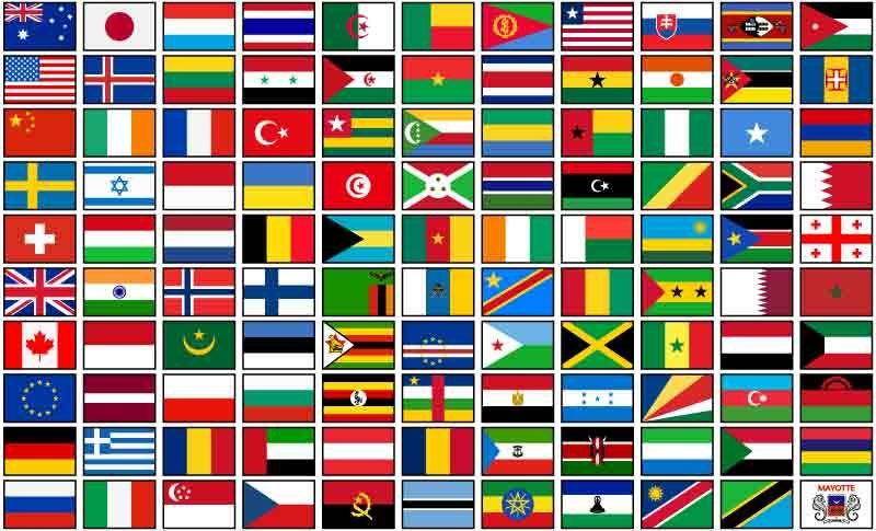 Flags of the World - Phoenix Graphics - Large Format Digital Printing. Delivery Australia Wide