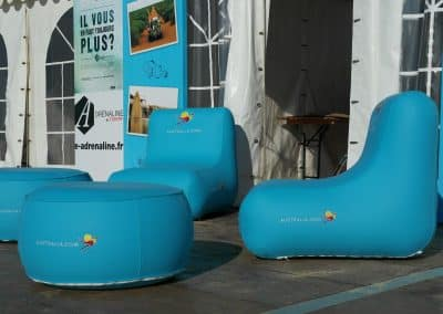 inflatable seat and table